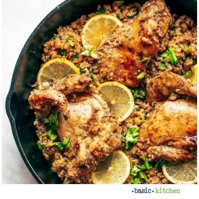 spanish chicken & cauliflower rice